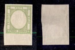 ANTICHI STATI ITALIANI - PROVINCE NAPOLETANE - 1861 - Senza Effigie (gommato Al Recto) - Mezzo Tornese (17ala) Bordo Fog - Ohne Zuordnung