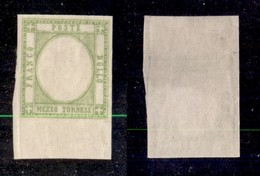 ANTICHI STATI ITALIANI - PROVINCE NAPOLETANE - 1861 - Senza Effigie (gommato Al Recto) - Mezzo Tornese (17ala) Bordo Fog - Sellos