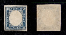 ANTICHI STATI ITALIANI - PROVINCE NAPOLETANE - 1861 - Non Emesso - Senza Effigie - 20 Cent (3) - Gomma Integra - Cert. A - Sellos