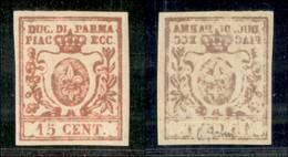 ANTICHI STATI ITALIANI - PARMA - 1859 - 15 Cent (9ab - Stampa Oleosa) - Gomma Originale (1.100) - Sellos