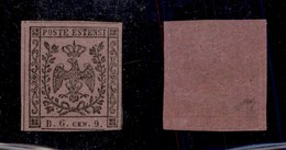 ANTICHI STATI ITALIANI - PARMA - 1853 - 9 Cent Viola Lilla (2a - Segnatasse Giornali) - Invisibile Piccola Traccia Di Li - Ohne Zuordnung