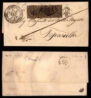 ANTICHI STATI ITALIANI - STATO PONTIFICIO - Striscia Di Tre Del 3 Baj (4Aa) - Lettera Da Roma Del 14.2.62 - Biondi + Die - Stamps