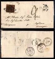 ANTICHI STATI ITALIANI - STATO PONTIFICIO - 3 Baj (4Aca) Su Lettera Per Sogliano Del 8.7.62 - Biondi (1.500) - Ohne Zuordnung