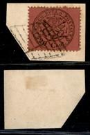 ANTICHI STATI ITALIANI - STATO PONTIFICIO - 20 Cent (27c - Rosa Bruno) Usato Su Frammento (1.200) - Sellos