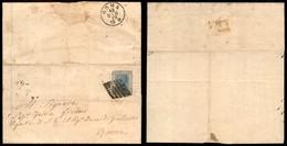 ANTICHI STATI ITALIANI - STATO PONTIFICIO - 10 Dicembre 1870 - 20 Cent (26 - Regno) Difettoso In Angolo - Lettera Da Gal - Ohne Zuordnung