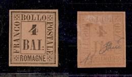 ANTICHI STATI ITALIANI - ROMAGNE - 1859 - 4 Bai (5) - Gomma Originale - Diena (1.300) - Sellos