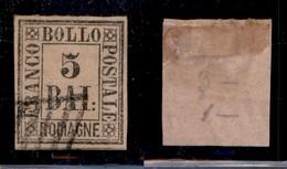 ANTICHI STATI ITALIANI - ROMAGNE - 1859 - 5 Bai (6) Usato - Cert AG (700) - Stamps