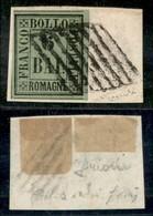 ANTICHI STATI ITALIANI - ROMAGNE - 1859 - 6 Bai (7) Usato Su Frammento - Cert. Raybaudi (19.500) - Sellos