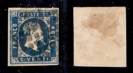 ANTICHI STATI ITALIANI - SARDEGNA - 1851 - 20 Cent (2) Usato (550) - Ohne Zuordnung