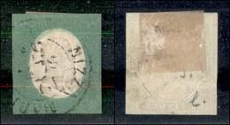 ANTICHI STATI ITALIANI - SARDEGNA - 1854 - 5 Cent (7) Usato A Nizza - Margini Precisi - Appena Stretto In Basso (1.200) - Stamps