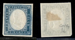 ANTICHI STATI ITALIANI - SARDEGNA - 1861 - 20 Cent (15Da) - Gomma Originale - Colla (300) - Sellos