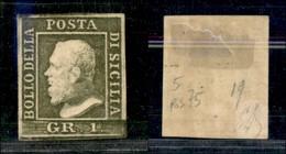 ANTICHI STATI ITALIANI - SICILIA - 1859 - 1 Grano (5) - Pos. 75 - Gomma Originale - Diena - Stamps