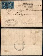 ANTICHI STATI ITALIANI - SICILIA - Due 2 Grana (8 + 6) Di Tavole E Colori Diversi - Lettera Da Messina A Siracusa Del 17 - Stamps