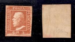 ANTICHI STATI ITALIANI - SICILIA - 1859 - 5 Grana (11) - Gomma Originale - Ohne Zuordnung