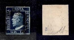 ANTICHI STATI ITALIANI - SICILIA - 1859 - 10 Grana (12b) Usato -  G.Bolaffi + Diena (900) - Sellos