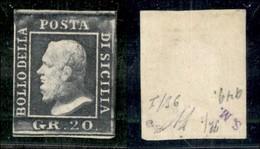 ANTICHI STATI ITALIANI - SICILIA - 1859 - 20 Grana (13) - Gomma Originale - Diena (1.800) - Sellos