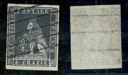 ANTICHI STATI ITALIANI - TOSCANA - 1851 - 6 Crazie (7) Usato (450) - Stamps