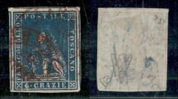 ANTICHI STATI ITALIANI - TOSCANA - 1857 - 6 Crazie (15) Usato - Grandi Margini (5 Vicini) - Leggero Assottigliamento Al  - Stamps