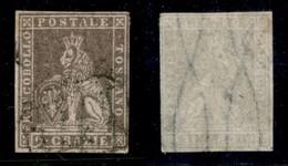 ANTICHI STATI ITALIANI - TOSCANA - 1859 - 9 Crazie (16) Usato - Cert. AG (11.000) - Sellos