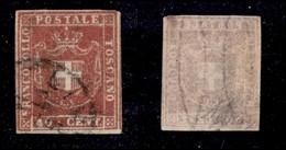 ANTICHI STATI ITALIANI - TOSCANA - 1860 - 40 Cent (21) Usato - Diena + Oliva (600) - Sellos