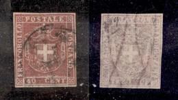 ANTICHI STATI ITALIANI - TOSCANA - 1860 - 40 Cent (21b) Usato - Oliva (550) - Sellos