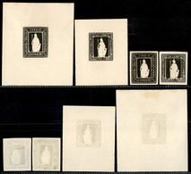 REGNO - Saggi - 1862 - Saggi Thermignon - Quattro Facsimile In Nero - Ohne Zuordnung