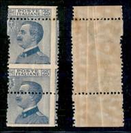 REGNO - 1908 - 25 Cent Michetti (83 - Formato Anomalo) - (salto Di Dentellatura Di 30 Millimetri In Verticale) - Gomma I - Sellos