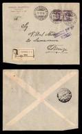 REGNO - Prestito Nazionale 1917 - 50 Cent (Unificato 1) - Coppia Con Soprastampe Oblique A Cavallo Su Raccomandata Da Ve - Sellos