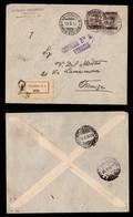REGNO - Prestito Nazionale 1917 (Unificato 2 + 1 Con Soprastampa A Cavallo) - Raccomandata Da Venezia A Firenze Del 19.9 - Sellos