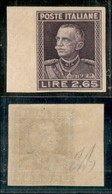 REGNO - 1927 - Prove D'Archivio - 2,65 Lire (P217) Bordo Foglio - Gomma Originale (400+) - Sellos