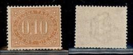 REGNO - Segnatasse - 1869 - 10 Cent (2) - Gomma Integra Non Originale - Da Esaminare - Sellos