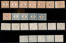 REGNO - Segnatasse - 1870/1874 - Segnatasse - Prove D'Archivio (P3/P14) - Serie Completa - Gomma Integra - Cert. Colla ( - Sellos