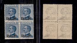 REGNO - B.L.P - 1922 - 25 Cent (8) In Quartina - Filigrana Capovolta - Gomma Integra - Non Catalogato - Sellos