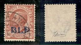 REGNO - B.L.P - 1923 - 10 Cent (13A - Soprastampa Azzurra) - Usato - Sellos