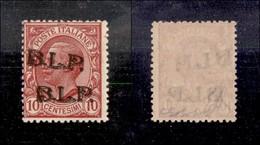 REGNO - B.L.P - 1923 - 10 Cent (13Bda) Con Doppia Soprastampa (una Obliqua) - Gomma Integra - Diena + G.Bolaffi + Cert.  - Sellos