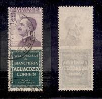 REGNO - Francobolli Pubblicitari - 1924 - 50 Cent Tagliacozzo (17) Usato - Cert. AG (1.100) - Sellos