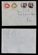 LUOGOTENENZA - COR.AL.IT. - 14 Lire Leone (3) + 28 Lire Leone (4) - Busta Da Torino A Milano Del 21.5.45 Con Due 1 Lira  - Sellos