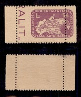 LUOGOTENENZA - COR.AL.IT. - 1945 - 56 Lire Ciclista (10ab) Bordo Foglio Con Parte Di Vicino A Destra - Dentellatura A Si - Sellos