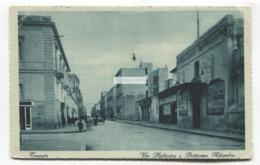 Taranto - Via Anfiteatro E Politeama Alhambra - Old Italy Postcard - Taranto