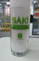 AC - SAKI RAKI 5x FILTRATED/ DISTILLED GLASS FROM TURKEY - Otras Botellas