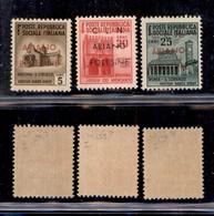 C.L.N. - ARIANO POLESINE - 1945 - 3 Valori (Errani 39/41) - Gomma Integra - Cert. Raybaudi - Sellos