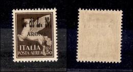C.L.N. - ARONA - 1945 - 50 Cent (15) - Molto Bello E Raro - Cert. AG (4.000) - Sellos
