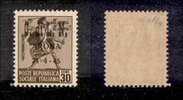 C.L.N. - ARONA - 1945 - 30 Cent (17) Senza Filigrana - Gomma Integra - Colla + Cert. AG (5000) - Sellos