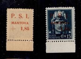 C.L.N. - MANTOVA - 1945 - 15 Cent + 1,85 Lire (2aa) - Soprastampe Recto Verso - Gomma Integra (1.500) - Sellos