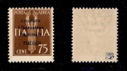 C.L.N. - PIACENZA - 1945 - 75 Cent (Errani 49) - Gomma Integra - Sellos