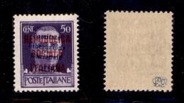 C.L.N. - PIACENZA - 1945 - 50 Cent (Errani 75 Varietà) - Soprastampa Obliqua - Gomma Integra - Cert. AG - Sellos