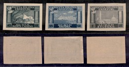 CORPO POLACCO -  1946 - Carta Grigia (1A/3A) - Serie Completa Non Dentellata - Gomma Integra (600) - Sellos