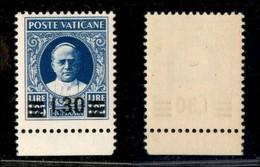 VATICANO - 1934 - 1,30 Lire Su 1.25 Lire Provvisoria (36) - Gomma Originale (250) - Sellos