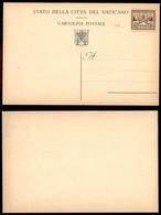 VATICANO - 1947 - Provvisoria - Cartolina Postale Da 2 Lire Su 50 Cent (C3) Nuova - Carraro - Sellos