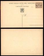 VATICANO - 1947 - Provvisoria - Cartolina Postale Da 5 Lire Su 50 Cent (C5) Nuova - Carraro - Sellos